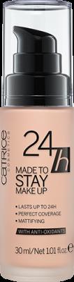 Тональная основа CATRICE 24h Made To Stay Make Up 010 Nude Beige бежевый: фото
