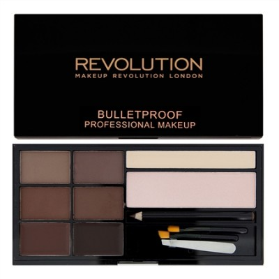 Палетка теней для бровей MakeUp Revolution Ultra Brow Palette Medium to Dark: фото