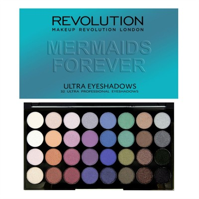 Палетка теней Ultra 32 Shade Eyeshadow Palette Mermaids Forever: фото