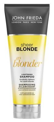 Шампунь осветляющий для натуральных, мелированных и окрашенных волос John Frieda Sheer Blonde Go Blonder 250 мл: фото
