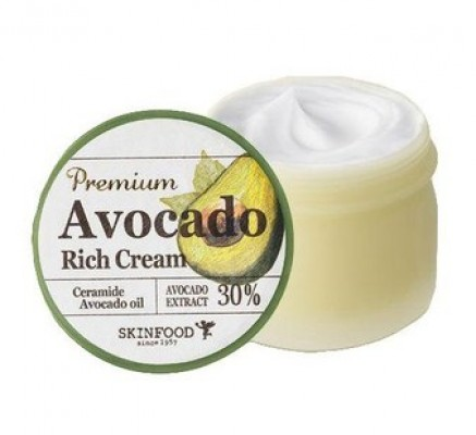 Крем для лица для увлажнения и питания сухой и обветренной кожи SKINFOOD Premium Avocado Rich Cream: фото