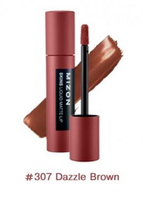 Помада матовая жидкая MIZON Skins Liquid Matte Lip №307 Dazzle Brown: фото