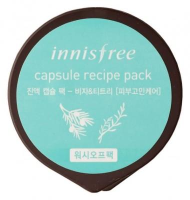 Маска капсульная с маслом чайного дерева INNISFREE Сapsule Recipe Pack Jeju Bija & Tea Tree: фото