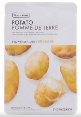 Маска с экстрактом картофеля THE FACE SHOP Real nature mask sheet snow potato: фото