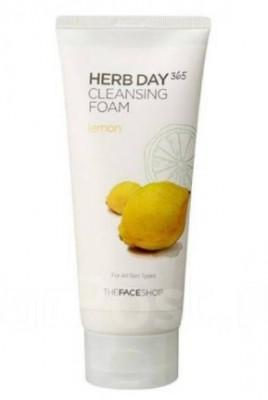 Пенка для умывания с лимоном THE FACE SHOP Herb Day 365 Cleansing Foam Lemon 170мл: фото