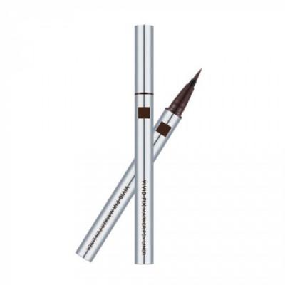 Подводка для глаз MISSHA Vivid Fix Brush Pen Liner Deep Brown: фото