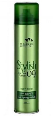 Лак для волос травяной с натуральными экстрактами COSMOCOS Stylish hair care system hair spray herbal 300мл: фото