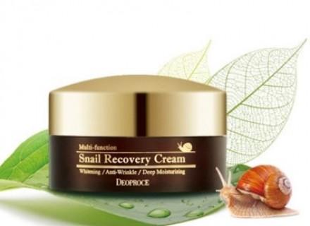 Крем антивозрастной с муцином улитки DEOPROCE Snail recovery cream 100г: фото
