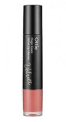Матовая жидкая помада-мусс 2 в 1 OTTIE Magic Grace Velvet Lip Mousse №2 Pure Marsala: фото