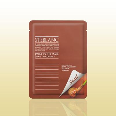 Маска восстанавливающая с муцином улитки STEBLANC Essence sheet mask-snail: фото