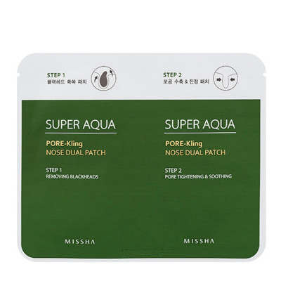 Патч для носа MISSHA Super Aqua Pore Kling Nose Dual Patch: фото
