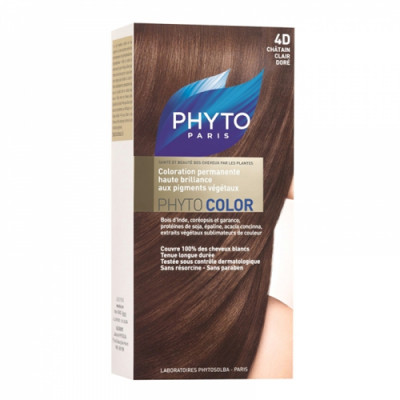 Краска для волос PHYTOSOLBA Phyto Color 4D Светлый Золотистый шатен: фото
