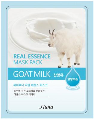 Тканевая маска с козьим молоком Juno JLuna Real Essence Mask Pack Goat Milk 25мл: фото