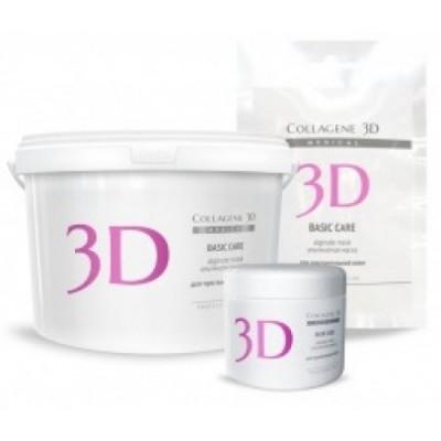 Альгинатная маска для лица и тела Collagene 3D BASIC CARE с розовой глиной 200 г: фото