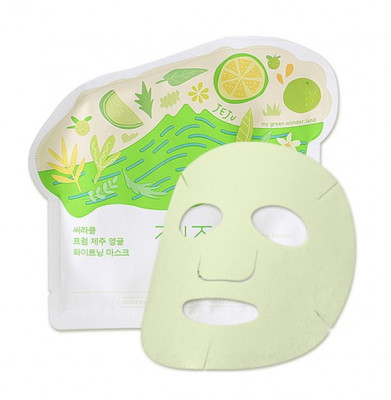 Маска для лица тканевая осветляющая Ciracle From Jeju Citrus Sudachi Whitening Mask 21г: фото