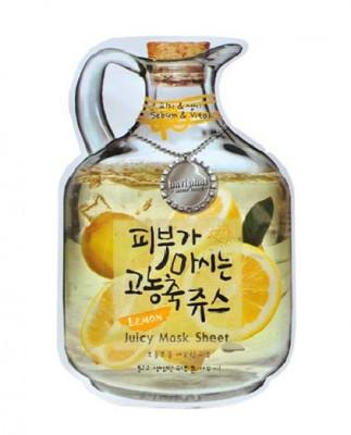 Маска тканевая с лимоном Baviphat Lemon Juicy Mask Sheet sebum & Vital 23г: фото