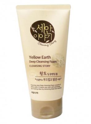 Пенка для умывания Welcos Cleansing Story Foam Cleansing Yellow Earth 150г: фото