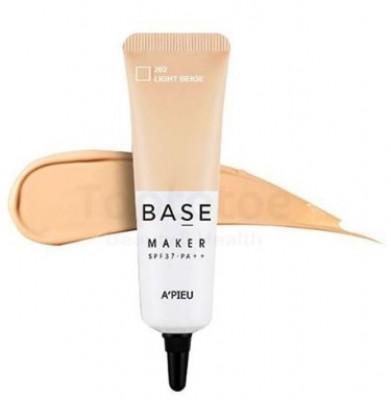 База под макияж A'PIEU Base Maker SPF37/PA++ Light Beige 20г: фото