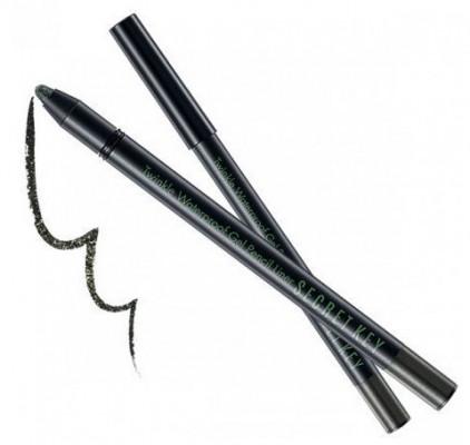 Карандаш автоматический для глаз водостойкий SECRET KEY Twinkle Waterproof Gel Pencil Liner 08 Golen Khaki 0,5г: фото