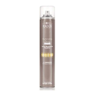 Лак фиксирующий придающий блеск Hair Company INIMITABLE STYLE Illuminating Fixing Spray 500ml: фото