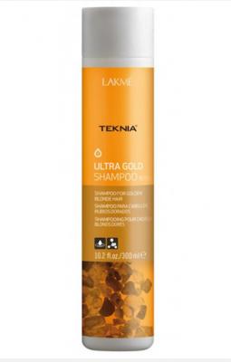Шампунь для поддержания оттенка окрашенных волос LAKMÉ ULTRA GOLD SHAMPOO Золотистый 300мл: фото