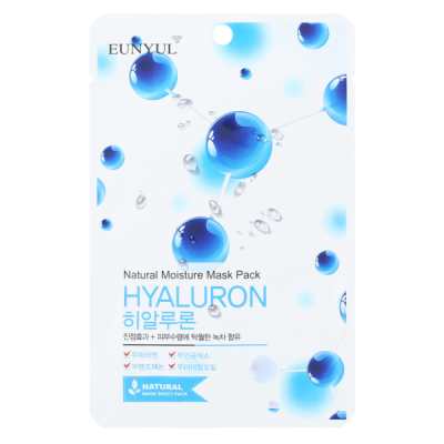 Тканевая маска с гиалуроновой кислотой EUNYUL NATURAL MOISTURE MASK PACK HYALURON 22мл: фото