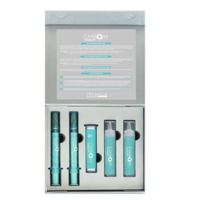 Набор для лица и шеи Premium Silhouette Peeling carboxy therapy: фото