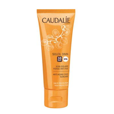 Солнцезащитный антивозрастной крем для лица Caudalie Teint&Soleil Divin SPF30 40мл: фото