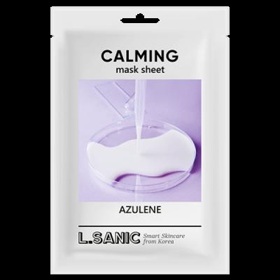 Успокаивающая тканевая маска с азуленом L.SANIC AZULENE CALMING MASK SHEET 25мл: фото