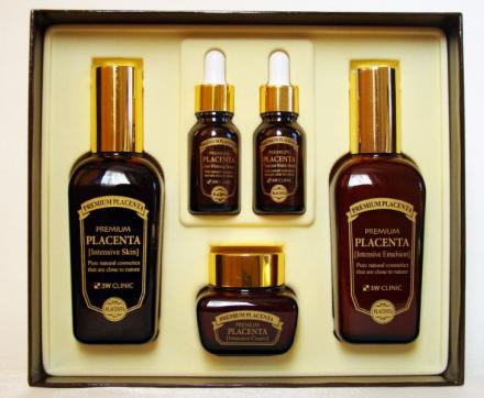Набор для лица ПЛАЦЕНТА 3W CLINIC Premium Placenta 3 Items Set: фото