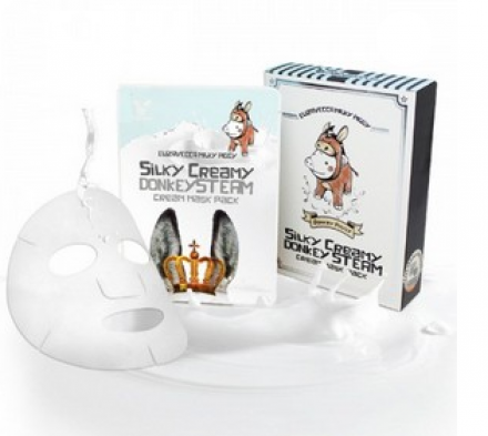 Маска с паровым кремом из молока ослиц ELIZAVECCA Silky Creamy Donkey Steam Cream Mask Pack 10шт: фото