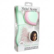 Набор щеток в пастельных тонах для нормальных волос MICHEL MERCIER Pastel Classic And Travel Detangling Brushes Set For Normal Hair: фото