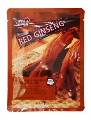 Маска тканевая с красным женьшенем May Island Real Essence Red Ginseng Mask Pack 25мл: фото