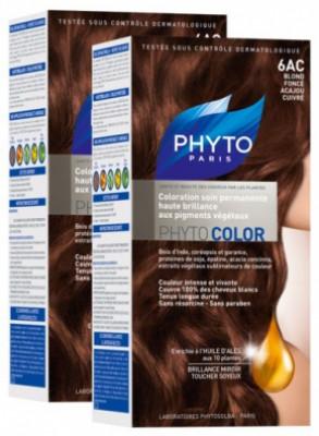 Краска для волос Phytosolba Phyto COLOR 6АС Темный блонд медь-красное дерево СДВОЙКА: фото