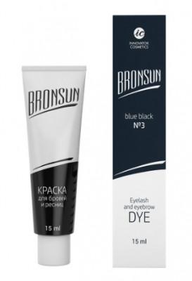 Краска для ресниц и бровей BRONSUN #3 иссиня-чёрный 15мл: фото