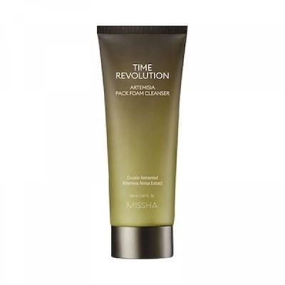 Пенка-маска очищающая MISSHA Time Revolution Artemisia Pack Foam Cleanser 150 мл: фото