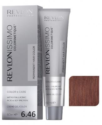 Краска перманентная Revlon Professional Revlonissimo Colorsmetique 6.46 темный блондин медно-красный 60мл: фото