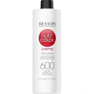 Краска для волос без аммиака Revlon Professional Nutri Color Creme 600 огненно-красный 750мл: фото
