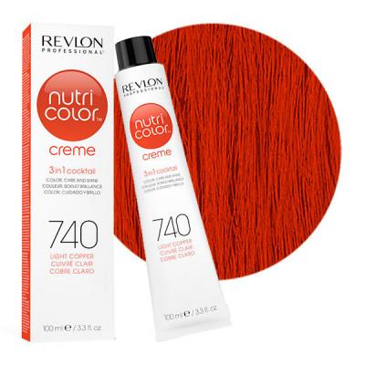Краска для волос без аммиака Revlon Professional Nutri Color Creme 740 Медный 100мл: фото