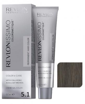 Краска перманентная Revlon Professional Revlonissimo Colorsmetique 5.1 Светло-Коричневый Пепельный 60мл: фото