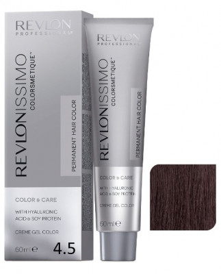 Краска перманентная Revlon Professional Revlonissimo Colorsmetique 4.5 Коричневый Махагон 60мл: фото