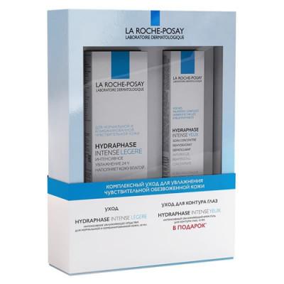 Набор La Roche-Posay HYDRAPHASE INTENSE LEGERE: Увлажняющее средство для нормальной/комбинированной кожи 50мл + Гель вокруг глаз 15мл: фото