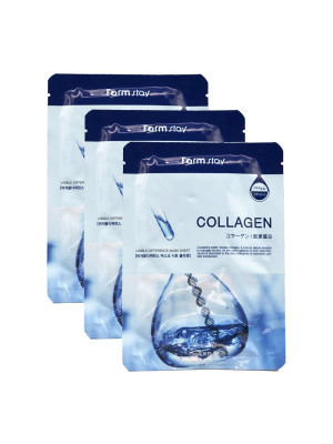 Маска с коллагеном FARMSTAY COLLAGEN VISIBLE DIFFERENCE MASK SHEET 23мл*3: фото