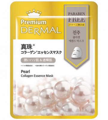 Тканевая маска жемчуг Dermal Premium Pearl Collagen Essence Mask 23 мл: фото