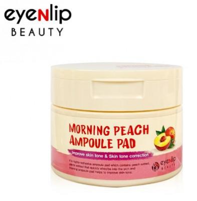Пады пропитанные эссенцией с персиком Eyenlip MORNING PEACH AMPOULE PAD 100шт: фото
