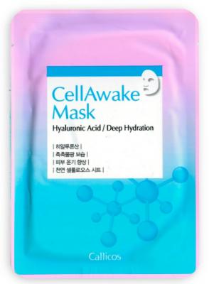 Тканевая маска увлажняющая с гиалуроновой кислотой Callicos CellAwake Hyaluronic Acid 25 г: фото