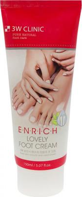 Крем для ног 3W CLINIC Enrich Lovely Foot Treatment 150мл: фото
