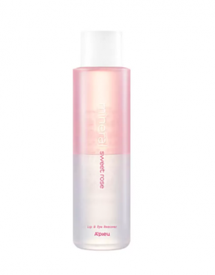 Двухфазное средство для снятия макияжа с губ и глаз с розовой водой A'PIEU Lip & Eye Wash Remover Sweet Rose 250ml: фото