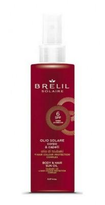 Защитое масло для волос и тела Brelil Solaire Olio Solare Corpo & Capelli SPF6 150мл: фото