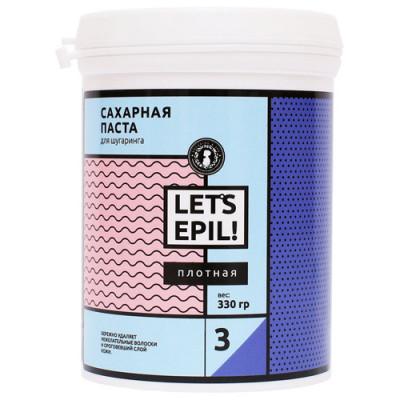 Сахарная паста для депиляции Плотная GLORIA LET'S EPIL 0,33 кг: фото